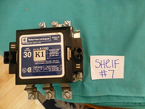 Telemecanique 30 amp cat no A133C K1 600 vac max contactor from Telemecanique
