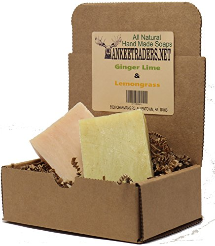 Ginger Lime  Lemongrass All Natural Citrus Assortment, Handmade Soap Assortment (2 Pack)