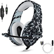 Gaming Headset with Microphone for PS4 PC Xbox One,Stereo Over Ear Gamer Headphones with Mic...