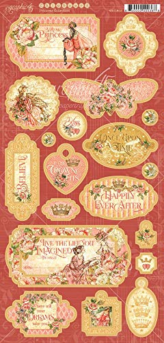 Graphic 45 4501803 Princess Chipboard Craft Paper, Multi