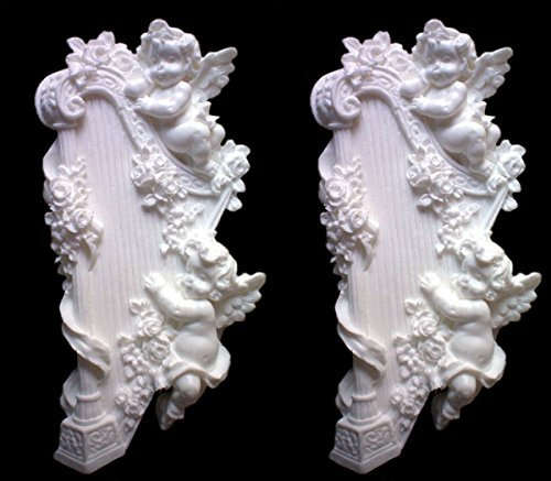 1 Piece/Cherub - Harp Mold Sugarcraft Molds Polymer Clay Cake Border Mold Soap Molds Resin Candy Chocolate Cake Decorating Tools