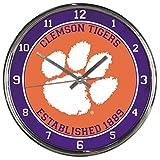 NCAA Clemson Tigers WinCraft Official Chrome Clock