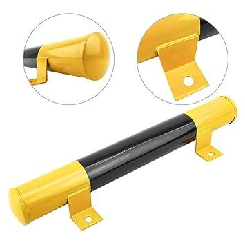 PrimeMatik - Tope de Suelo para Ruedas de Parking Aparcamiento de Metal 60 cm