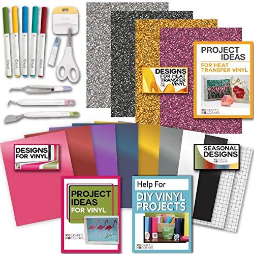 Cricut Tools Bundle - Vinyl Pack, Basic Tools Explore Fine Point Pens 4336979078