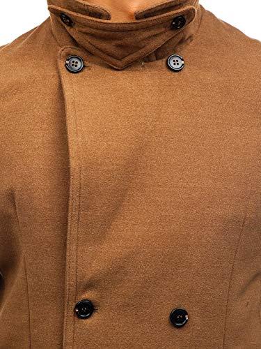 Revers – Bottoni 1048 Cappotto Cerniera Uomo Elegante Monopetto Da Cammello Collo 4d4 Bolf Con Semi 0n5I6qq