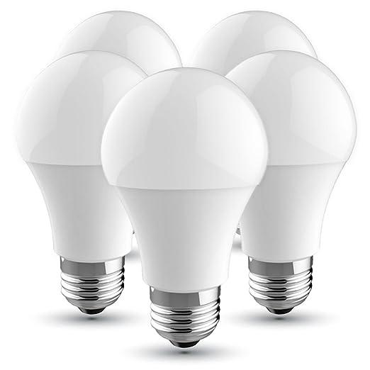 V-TAC Bombilla LED E27, 10 W equivalente a 60 W, 806 lúmenes ...