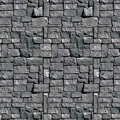 Beistle Stone Wall Backdrop Party Accessory   4-Feet by 30-Feet   (Medieval Castle Decorations)