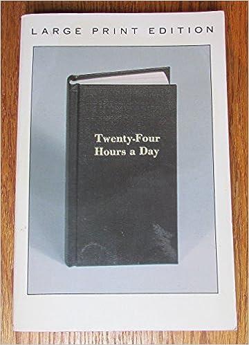 twentyfour hours a day journal a meditation book and journal for daily reflection hazelden meditations