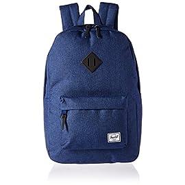 "Herschel Supply Co. Heritage Backpack 52 Pockets: 2 slip, 1 zip, 1 exterior Shoulder strap length: 34.5"" Pockets: 1 exterior zip, 1 interior multifunction"