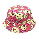 Fisherman Hat Foldable,Colorful(TM) Fashion Toddler Baby Kids Boys Girls Floral Pattern Bucket Hats Sun Helmet Cap for 2-6 Years Old Little Kids (Hot Pink)