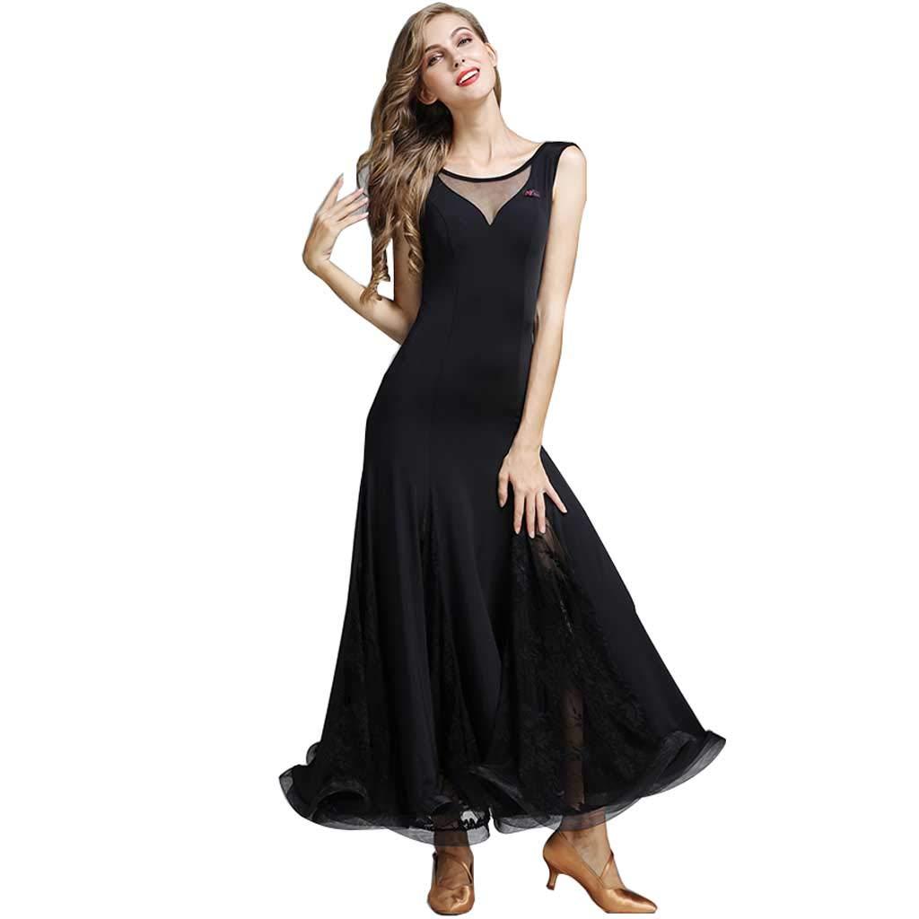 【GINGER掲載商品】 ダンスドレスドレス、ブラックナイロンフォーシーズンズダンスドレス l B07H4KKYTC ブラック ブラック L L l, お弁当グッズのカラフルボックス:763aa202 --- shrigajendrajewellers.com