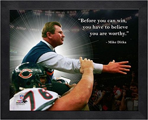 Bowl 16x20 Photo Pro (Mike Ditka Chicago Bears NFL framed Pro Quotes 16x20)