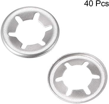 Rondelle dentate interne a innesto rapido clip in acciaio inox 304 15mm O.D DealMux M6 Starlock Washer 5.1mm I.D confezione da 40