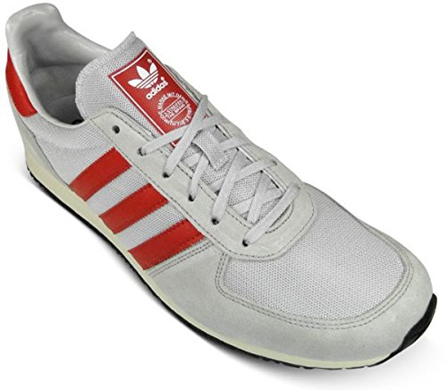 4424e3562c74 adidas Adistar Racer - Clear Grey Aluminium Light Scarlet - V22766 UK Size  10.5  Amazon.co.uk  Shoes   Bags
