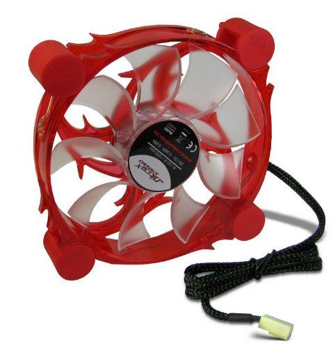 Inter-Tech R-120-R - Ventilador de PC (Ventilador, Carcasa del ordenador, 19 Db, Negro, Rojo, Rojo, 1,8W): Amazon.es: Informática