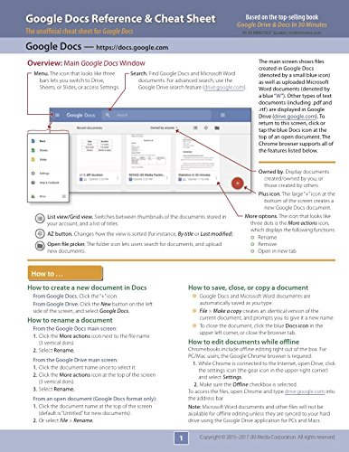 Google Docs Reference and Cheat Sheet: The unofficial cheat sheet reference for Google's free online word processor