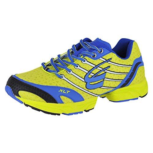 (Spira Stinger XLT 2 Men's Running Shoes Size US 9, Regular Width, Color Yellow/Blue)