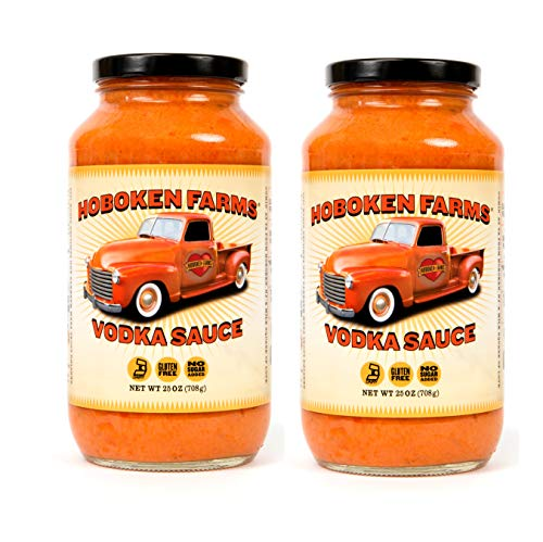 Hoboken Farms Vodka Sauce - No Sugar Added, Gluten Free, Vegetarian, Plant Focused Gourmet Pasta Sauce (2-Pack) ()