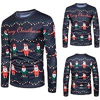 Litetao Christmas Printing Top, Men 2017 Fashion Long-sleeved Sport O-Neck T-shirt
