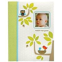 C. R. Gibson Green and White Woodland Primer libro de memorias para bebés recién nacidos de animales, 60 pgs, 9 '' W x 11.13 '' H