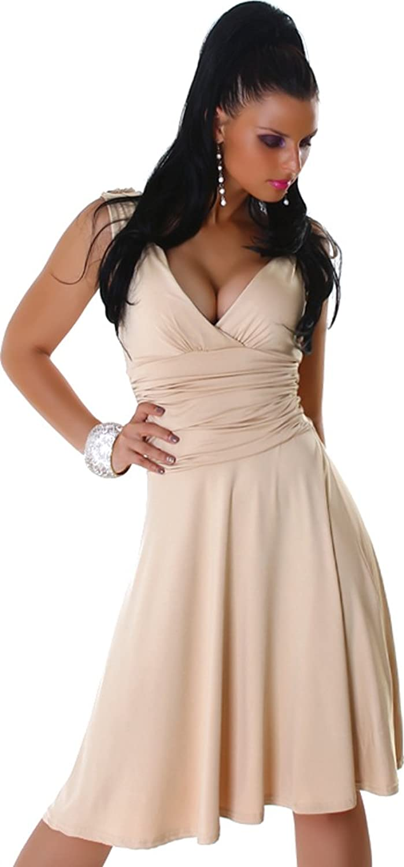 Jela London Ladies Dress Dress V-neck Knee-Length Width