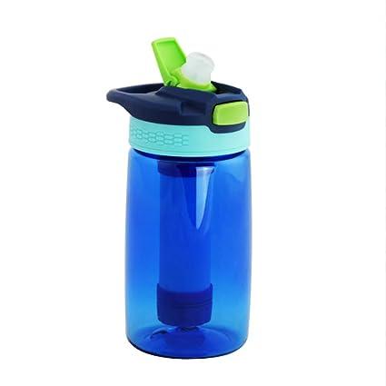 FHTDB Botella de Agua para Deportes, BPA de 400 ml de BPA, plástico no