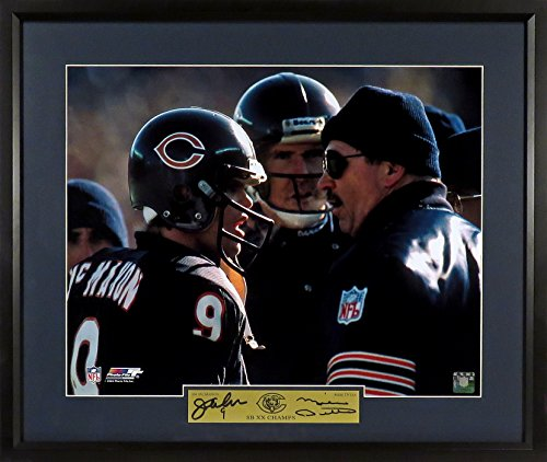 "Jim Mcmahon Chicago Bears - Chicago Bears Mike Ditka & Jim McMahon ""Sideline Intensity"" 11x14 Photograph (SGA Signature Series) Framed"