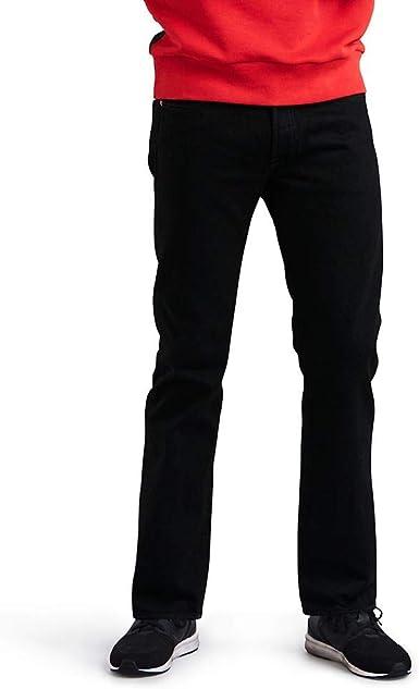 Levi's 501 Original Fit Jeans Pantalón vaquero con diseño clásico y cómodos de usar, Black 0165, 32W / 32L para Hombre