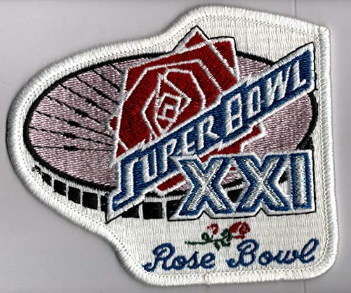 Super Bowl XXI Official Patch New York Giants vs Denver Broncos at Rose Bowl