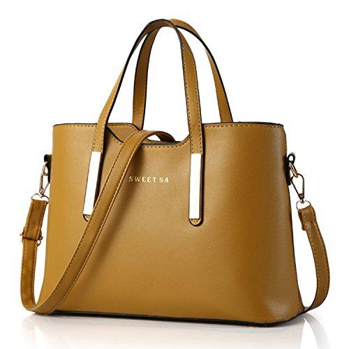 alta Mano Donna a Spalla Fashion Borse a PU Sa qualità pelle borsa Borsa Sweet Giallo Designer Bag BYD fpwngqdxaf