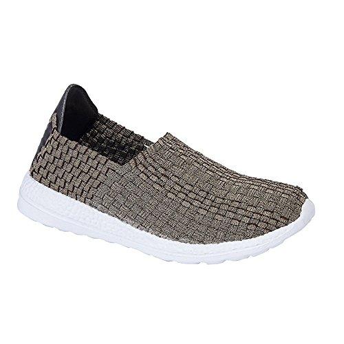 Dek Damen Superlight Elastische Web Sommer Freizeit Schuhe Silber