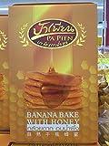 Dried Banana Bake with Honey 100% Natural ,300g.