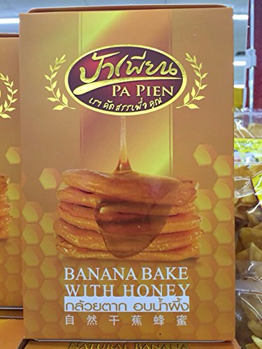 Dried Banana Bake with Honey 100% Natural ,300g. by Papien