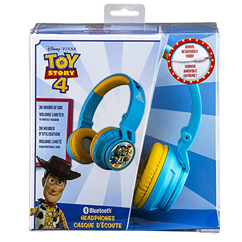 51WBkjwl7JL - eKids B50 Toy Story 4 Kids Bluetooth Headphones for Kids Wireless Rechargeable Foldable Bluetooth Headphones with Microphone Kid Friendly Sound & Bonus Detachable Cord