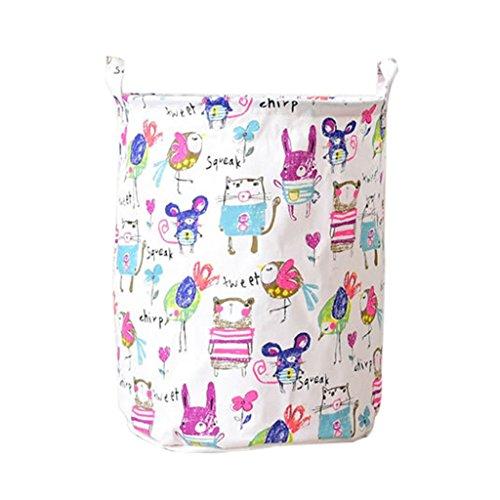 Colorido algodón y lino plegable cesta de lavandería baño recámara casa organizador de almacenamiento de juguetes, 1#,...