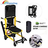 Happybuy Electric Stair Climbing Wheelchair Crawler Foldable Battery Powered Stair Evacuation Chair Folding Mobility Aid-Can be as Lifting Devices Stretcher