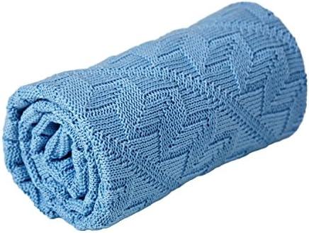 Mantita para bebé (100% algodón orgánico) azul azul: Amazon.es: Bebé