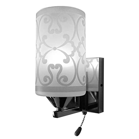 Elitlife Elegant Style Modern Wall Light Lamp Pattern Indoor Energy Saving  for Bedside Lamp/Stair Lamp/Wall Sconce/Living Room witn Pull line Switch &  ...