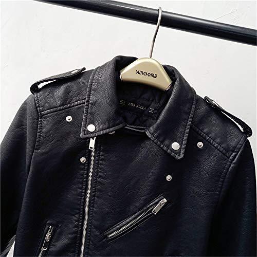 Alta Mujer Cintura Corta De Nueva Con Algo Invierno Black Acolchado Ropa Motocicleta Para Cuero Chaqueta Damas E Otoño Abrigo Marea Pu gqZII