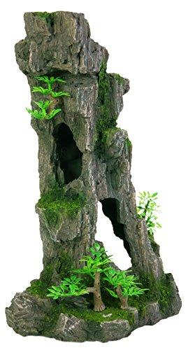 Trixie Rock - Trixie 8857 Aquarium Decoration Rock Formation With Caves / Plants Upright 28cm