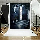 TAOtTAO Halloween Backdrops Pumpkin Vinyl 5x3FT Lantern Background Photography Studio (R)