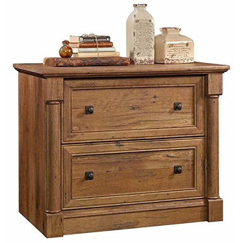 Pemberly Row 2 Drawer Wood Lateral Letter/Legal File Cabinet in Vintage Oak ()