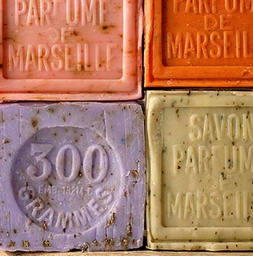 Savon de Marseille (Marseille Soap) with Pure Crushed Local Flowers from France (Jasmine)