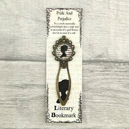 Pride And Prejudice Bookmark - Elizabeth Bennet - Vintage Bronze & Glass, Metal Bookmark, Jane Austen, Literary Gift