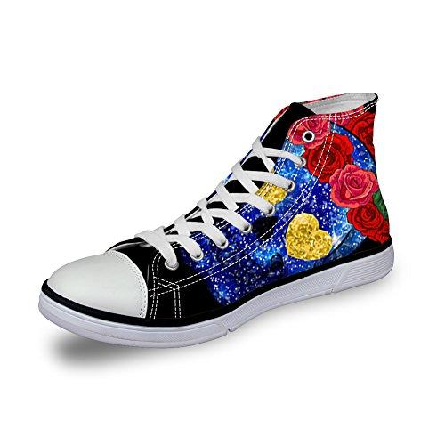 Lgres Sneakers Coloranimal De 1 Chaussures Univers Crane Imprim Motif Toile Animal Femmes Hautes r7zI5z