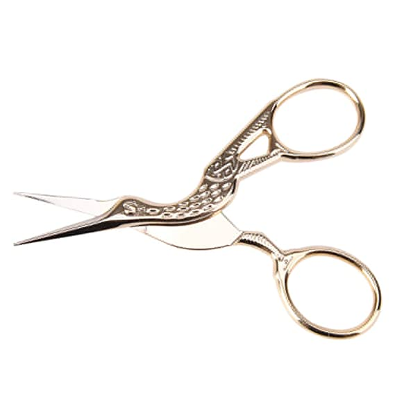 Scissors Vintage Diy Crane Shape Gold Tailor Sewing Embroidery Stainless Steel Scissors Unique For Crafts Handmade Diy Accessories