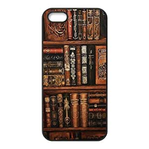 phone covers Vintage Bookshelf Rubber Cell Phone Cover Case for iPhone 5c