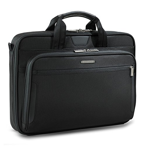 Briggs & Riley Large Slim Briefcase KB306-4 @WORK BLACK