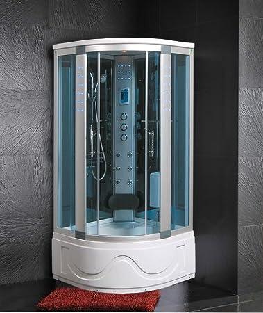 Cabina y bañera hidromasaje 105 x 105 Generador de vapor con ...