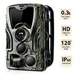 Suntekcam Trail Camera Wildlife 16MP 1080P Hunting Scouting HD 0.3s Trigger Speed Night Vision 49ft Infrared Cam IP65 Waterproof 2.0''Color TFT LCD 36 LEDs 3 Passive Infrared Sensors